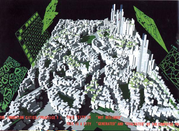 Image 19 - Makoto Sei Watanabe, « The Induction Cities Project : Theory of Evolutionary Design, 1991-1996 (Frac Centre, exposition Archilab 1999)
